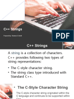 Strings Presentation