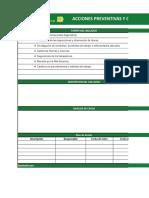 Anexo 35. Formato de Acciones Correctivas y Preventivas