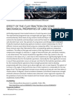 Effect of the Clay Fraction on Some Mechanical Properties of Lime Soil Mixtures
