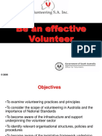 Be an Effective Volunteer Presentation