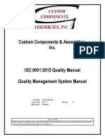 Quality Manual ISO 9001 2015
