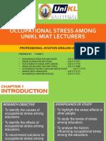 Occupational Stress Slides