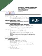 Resume and Application Letter OJT