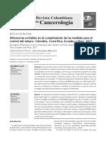 Diferencias evitables en el cumplimiento de las medidas para el control del tabaco