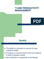 quality and production management