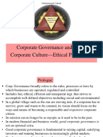 Corporate Governance and Ethics L