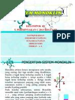 sistem monoklin pada mineral