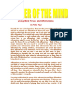 Using Mind Power and Affirmations