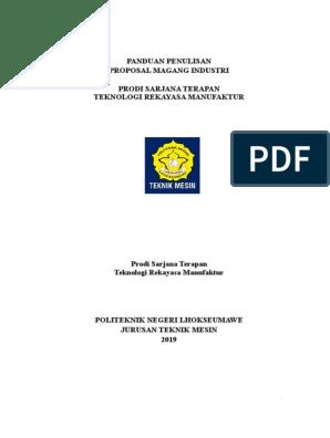 Panduan magang Teknik Mesin Rekayasa Manufaktur Politeknik Negeri  Lhokseumawe