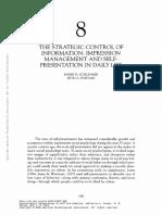 The Strategic Control of Information Impression Management