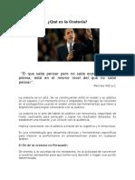 Qué Es La Oratoria-Alunni,Recopilacion