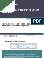 Architectural Research & DesignResearch