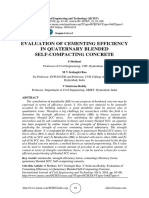 EVALUATION OF CEMENTING EFFICIENCY IN QUATERNARY BLENDED  SELF-COMPACTING CONCRETE