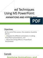 Animations in Making PPT
