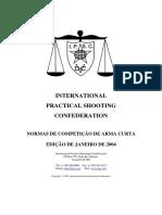 Normas de Competicao de Arma Curta Da IPSC - Jan 2004 Edt. Final