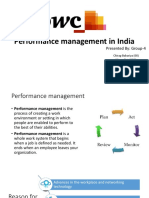 Performance Management in India