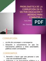 Problemática de La Corrupción en El Sector Educación