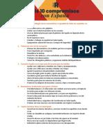 Decálogo de las propuestas de Cs