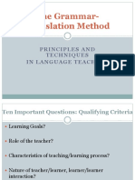 Grammar Translation Method and Direct Method