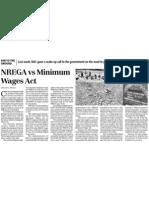 Business Standard - 31 Oct 2010 - NREGA vs Minimum Wages Act