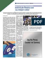 Periódico NUEVA SION. Buenos Aires, Abril de 2019, contratapa