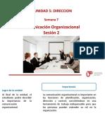 _Semana 8 Sesion 2 - Comunicacion Organizacional