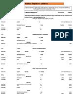Analisis Costos Unitarios Losa Ranchos 2019