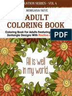 Adult Coloring Book - 30 Beautiful Zenttangle Designs with Postive Affirmations - Morgana Skye.epub