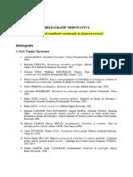 Bibliografie Orientativa - Claudiu Dinca