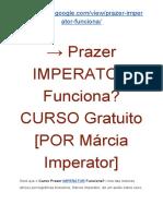 → CURSO Prazer IMPERATOR Depoimentos | CURSO Gratuito [POR Márcia Imperator]