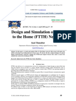 Design and Simulation of Fiber to the Home (FTTH) Network