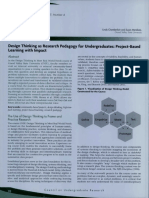 Design Thinking as Research Pedagogy for Undergraduates Project-Based