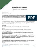 Freelance Venue Staff Agreement 2019