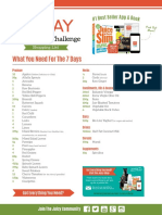 soup and juice diet shopping list