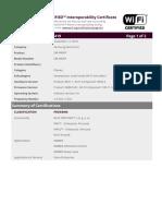 Certificate WFA77419