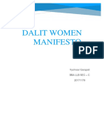Dalit Women Manifesto