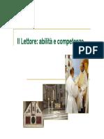Il Lettore - Abilita e Competenze