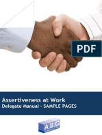 Sample Assertiveness at Work Manual