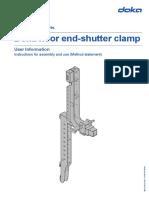 Doka Floor End-shutter Clamp