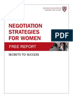 Women and Negotiation Free Report