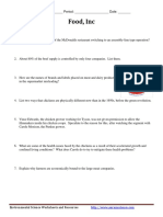 Food Inc Worksheet