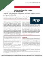 European Guidelines on Perioperative Venous.5