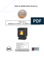 User Manual for England PDVC pellet stove