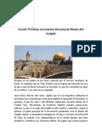 Israel y El Terremoto