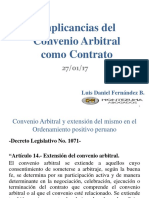 Implicancias Del Convenio Arbitral Como Contrato_PPT