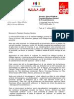Courrier Des DSC CGT a Remy Pflimlin a Propos de Vanves
