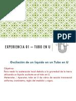 Experiencia 01 – Tubo en U