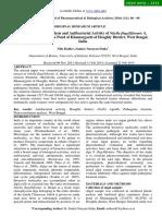 Phytoconstituent Analysis and Antibacterial Activity of Nitella Flagelliformis