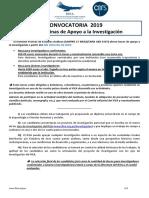 Convocatoria Beca Andina2019
