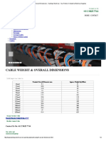 Cable Weight & Overall Dimensions - Hastings Electrical - Your Partner in Industrial Electrical Supplies